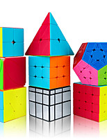 cheap -Speed Cube Set 8 pcs Magic Cube IQ Cube 2*2*2 3*3*3 4*4*4 Speedcubing Bundle 3D Puzzle Cube Stress Reliever Puzzle Cube Stickerless Smooth Office Desk Toys Pyramid Mirror Megaminx Kid's Adults Toy
