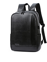 cheap -Travel Bag Laptop Backpack College Bookbag Large Capacity Waterproof with USB Charging Port Casual Outdoor Travel PU Leather Fits 14 Inch Laptop Gift For Men and Women 29*13*42 cm