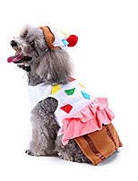 cheap -cute pet food costume, cupcake pet suit with hat for dog & cat halloween christmas