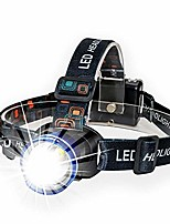 cheap -boruit zoomable waterproof head lamp flashlight xml-t6 led headlamp torch 1600 lumens with adjustable 3 modes hands free flashlight headlight for fishing, hunting, hiking, camping, running, blue