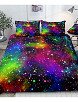 cheap -3D Digital Print 2/3 Pieces Bedding Sets Outer Space Bedding Sets Colorful Red Blue Green Nebula Duvet Cover Universe Bed Set