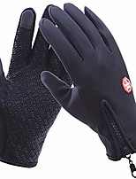 cheap -touch screen running sports gloves anti-slip winter windproof water resistant gloves for snowboarding cycling driving texting women men (l)