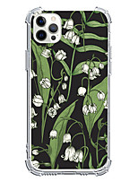 cheap -Plants Floral Botanical Case For Apple iPhone 12 iPhone 11 iPhone 12 Pro Max Unique Design Protective Case Shockproof Back Cover TPU