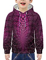 cheap -Kids Boys' Active 3D Graphic Print Long Sleeve Hoodie & Sweatshirt Fuchsia