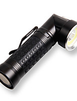 cheap -YM-8528 Handheld Flashlights / Torch 800 lm Cree® XM-L2 T6 Emitters Portable LED Easy Carrying Durable Camping / Hiking / Caving Everyday Use Fishing Black