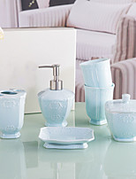 cheap -Bathroom Accessories Set 6 Piece Ceramic Complete Bathroom Set for Bath Decor  Includes Toothbrush Holder Soap Dispenser Soap Dish Cup 2 Mouthwash Cup Home and Hotel