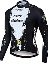 cheap -21Grams Women's Long Sleeve Cycling Jacket Winter Black Bike Jersey Top Mountain Bike MTB Road Bike Cycling UV Resistant Breathable Quick Dry Sports Clothing Apparel / Stretchy