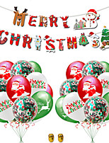 cheap -Party Balloons 23 pcs Merry Christmas Party Supplies Latex Balloons Banner Boys and Girls Party Decoration 12 Inch for Party Favors Supplies or Home Decoration