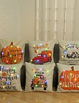 cheap -6pcs Halloween Led Pillow Cute Cushion Office Car Sofa Cushion Cover 3AA Batteries not included