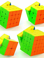 cheap -Speed Cube Set 4 pcs Magic Cube IQ Cube MoYu 2*2*2 3*3*3 4*4*4 Speedcubing Bundle 3D Puzzle Cube Stress Reliever Puzzle Cube Stickerless Smooth Office Desk Toys Kid's Adults Toy Gift