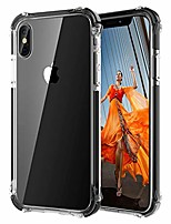 "cheap -clear iphone xs case, iphone x/xs protective case cover [4 reinforced corners] shockproof case with tpu soft bumper for iphone x/xs 5.8"" 2018 clear-black"
