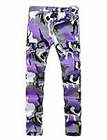 cheap -camo cargo pants mens baggy tactical trouser hip hop casual cotton multi pockets pants streetwear lavender 34
