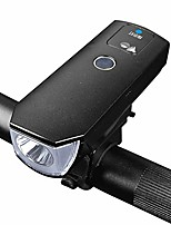 cheap -usb rechargeable bicycle headlight, t6 super bright night riding portable torch intelligent light sensing, 5-modes zoom dimming endurance 3.5-5hours-black