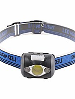 cheap -adjustable headlamp, cob led headlight outdoor camping hiking working warning torch lamp black