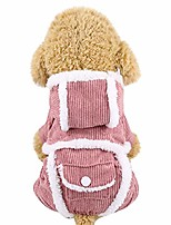 cheap -pet cat dog fleece hooded coat puppy dog clothes winter warm dog jacket hooded sweatshirt clothing pink
