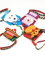 cheap -Dog Cat Collar Christmas Dog Collar Tie / Bow Tie Adjustable Flexible Outdoor Santa Claus Snowman Christmas Tree Cotton Golden Retriever Corgi Bulldog Bichon Frise Schnauzer Poodle Red Blue 1pc