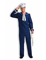 cheap -men's sailor costume, blue/white, standard