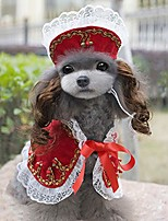 cheap -dogs cats costumes set, pet costume cloak headwear wig pet dog costume party decorations halloween pet costumes accessories for small dogs and cats,red,s