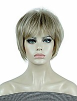 cheap -short wig straight hair soft layered shag ombre blonde/red full synthetic wigs (h16-613)