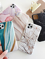 cheap -Case For Apple iPhone 12 / iPhone 11 / iPhone 12 Pro Max Shockproof Back Cover Lines / Waves TPU