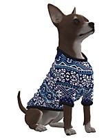 cheap -Dog Shirt / T-Shirt Snowflake Casual / Sporty Fashion Christmas Casual / Daily Winter Dog Clothes Puppy Clothes Dog Outfits Breathable Blue Costume for Girl and Boy Dog Polyster S M L XL
