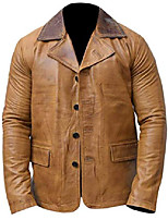 cheap -red ii dead arthur morgan tan brown genuine leather coat jacket