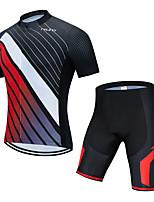 cheap -weimostar men's cycling jersey set bike short sleeve shirt tops 3d gel padded shorts red black size xxxl