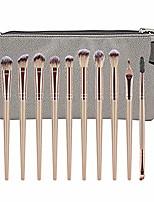cheap -12pcs makeup brush kit plastic handle cosmetic brush set foundation brush powder brush eyeshadow brushes