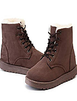 cheap -winter boots for women ankle boots female snow shoes ladies lace up suede upper with warm plush insole,brown,5.5