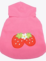 cheap -pet dog cute strawberry hoodie costumes outfit -- l