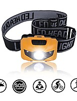 cheap -led headlamp flashlight with batteries, waterproof for reading outdoor running camping backpacking fishing hunting climbing walking jogging headlamps (yellow)