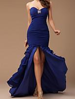 cheap -Mermaid / Trumpet Elegant Minimalist Engagement Formal Evening Dress Sweetheart Neckline Sleeveless Court Train Spandex with Ruffles Tier 2020