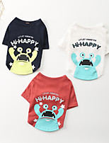 cheap -Dog Shirt / T-Shirt Animal Printed Cute Funny Casual / Daily Dog Clothes Puppy Clothes Dog Outfits Breathable White Red Blue Costume for Girl and Boy Dog Cotton S M L XL XXL 3XL