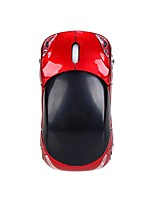 cheap -wireless optical mouse,  2.4ghz 1200dpi car-shaped mouse usb scroll mice for tablet laptop computer (red)