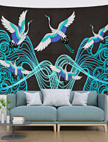 cheap -Chinese Style Wall Tapestry Art Decor Blanket Curtain Hanging Home Bedroom Living Room Decoration Polyester Crane Sea Wave