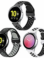 cheap -bands for samsung galaxy watch active 2 40mm 44mm/ galaxy watch 3 41mm/ galaxy watch 42mm, 20mm soft silicone replacement sport bands for galaxy watch active/actie 2 smart watch 3pack,small