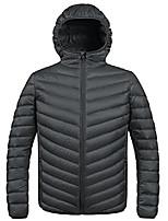 cheap -men's winter packable down jacket with hood coat(dark grey, small)