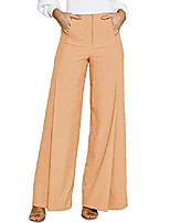 cheap -women's high waisted long palazzo pants wide leg flowing trousers suit pants with pockets khaki