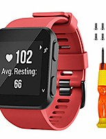 cheap -for garmin forerunner 35 band/approach s10 band soft silicone replacement watch strap compatible with forerunner 35/garmin approach s10 smartwatch(red)