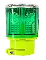 cheap -solar strobe warning light 360 degree super bright waterproof ip48 for construction traffic dock marine wireless light control flashing (green)