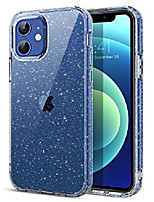 cheap -compatible with iphone 12 case and iphone 12 pro case, slim thin shockproof protective hybrid hard pc soft tpu bumper drop protection girl women 12/12 pro cover 6.1 inch 2020, clear glitter