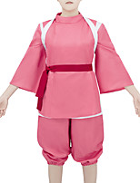cheap -Inspired by Spirited Away Chihiro Ogino Anime Cosplay Costumes Japanese Cosplay Suits Costume For Women's