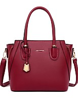 cheap -Women's Bags PU Leather Leather Satchel Top Handle Bag Tassel Zipper Handbags Daily Outdoor Black Blue Purple Red