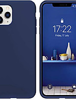 "cheap -iphone 11 pro case blue, thin liquid silicone case, soft silk microfiber cloth, matte pure blue, gel rubber full body, cool protective shockproof cover 5.8"" - blue"