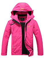 cheap -Women's Girls' Hiking Jacket Hiking Windbreaker Winter Outdoor Solid Color Waterproof Windproof Breathable Quick Dry Jacket Single Slider Hunting Fishing Climbing Black Red Sky Blue Rose Red