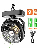 cheap -camping fan with led light 5200mah usb rechargeable tent fan portable fan (renewed)