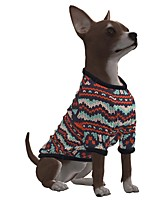 cheap -Dog Shirt / T-Shirt Stripes Snowflake Casual / Sporty Fashion Christmas Casual / Daily Winter Dog Clothes Puppy Clothes Dog Outfits Breathable Brown Costume for Girl and Boy Dog Polyster S M L XL