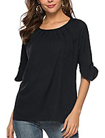 cheap -summer tops for women, womens chiffon business tunic blouse fashion blouses tops for junior for business work for leggings black, small