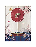 """cheap -Japanese Ukiyo-e Doorway Wall Tapestry Art Decor Blanket Curtain Hanging Home Bedroom Living Room Decoration Cotton Linen Ink Painting Style 33"""" x 59"""""""