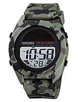 cheap -solar power watches for men waterproof simple military electronic quartz digital sport watch stopwatch alarm (green)